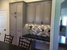 Pickled Oak Cabinets Glazed by Refinishing Oak Cabinets With Glaze Roselawnlutheran