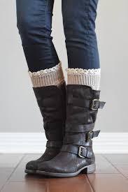 beige knitted boot cuffs with lace trim u2013 bootcuffsocks com