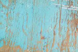 Rustic Wooden Texture Old Wood Background With Blue Peeling Paint Stock Photo