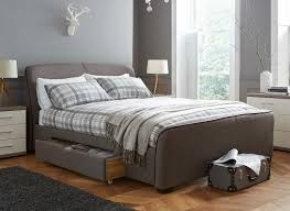 Rc Willey Bed Frames by Rayner Brown Tweed Upholstered Bed Frame Storage Beds