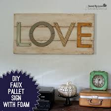 How to Make a Faux Pallet Sign Super lightweight no power tools