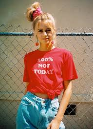 100 Not Today Vintage 70s Womens T Shirt Funny Tee Graphic Red Inspired