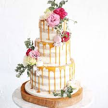 Dreamy Drip Wedding Cakes 23 Delicious Styles