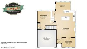 Maronda Homes Floor Plans Florida by The Newbury Elevation G First Floor Layout In The Whispering