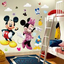 Minnie Mouse Bedroom Decor by 3d Cartoon Mickey And Minnie Mouse Wall Stickers Kids Baby Nursery