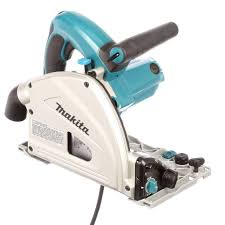 makita 12 amp 6 1 2 in corded plunge saw with 55 in guide rail