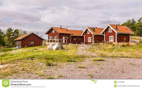 100 Homes In Sweden Traditional Holiday Europe Stock Photo