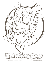 Coloring Page Halloween Mad Scientist