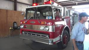 Pierce Ford Fire Truck At Auction - YouTube