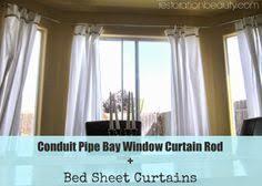 diy bay window curtains bay window curtains diy bay window