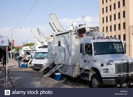 News Satellite Truck Stock Photos & News Satellite Truck Stock ... Pmtv Sallite Uplink Trucks For Broadcast Live Streaming Trucks At The Coverage Of Timothy Mcveighs Exec Flickr Side Loader New Way The Best To Transmit Data In Really Wired 3d Rendering On Road With Path Traced By Stock Espn Gameday Truck Was Parked Nearby 2012 Us Presidential Primary Covering Coverage Tv News Broadcast Live With Antenna And Sallite Tv Truck Parabolic Frm N24 Channel Media Descend On Jpl Nasas Mars Exploration Program Rear View Of White Television Multiple