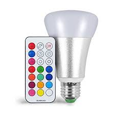 High Ceiling Light Bulb Changer Australia by Le Dimmable A19 E26 Led Light Bulb 6w Rgb 16 Colors Remote