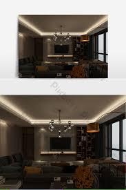 designer benutzerdefinierte minimalistische wohnzimmer nacht