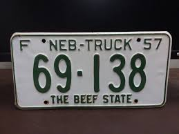 1957 NEBRASKA TRUCK License Plate Tag Original - $19.99 | PicClick