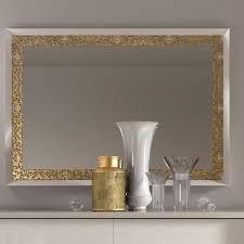 kommode spiegel in weiß gold valganios 2 teilig