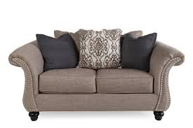 mathis brothers sofa and loveseats nailhead trimmed traditional 70 loveseat in gray mathis