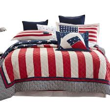 American Flag Quilted Bedding