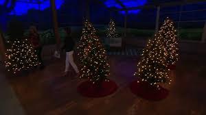 Qvc Pre Lit Christmas Trees by Bethlehem Lights Noble Spruce Tree W Swift Lock U0026 Multi Functions