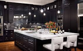 Fancy Inspiration Ideas Dark Kitchen Cabinets Modern AWESOME HOUSE