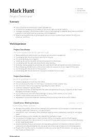 100 Project Coordinator Resume Samples Templates VisualCV