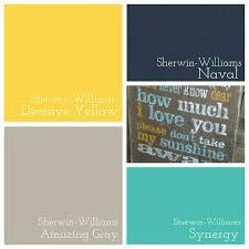 Yellow Gray And Teal Bathroom by Hall Bathroom Sherwin Williams Decisive Yellow Amazing Gray