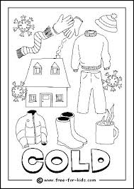 Winter Clothing Colouring Pages Coloring Image Of Cold Day Page Free