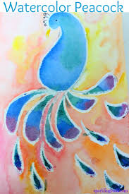 Watercolor Peacock Art Idea
