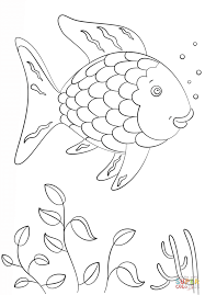 Rainbow Fish Coloring Page Within