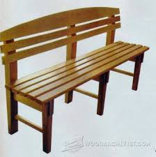outdoor table and bench plans u2022 woodarchivist