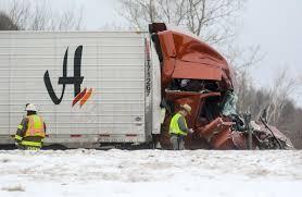 100 Rainier Truck And Trailer Tractortrailer Strikes Parked DOT Truck On Interstate 86 Near