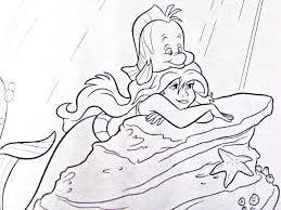 Walt Disney Coloring Pages Flounder Ariel