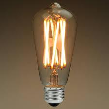 led edison bulb 6 watt 40w equal 2200k plt kst58n6lscl22k