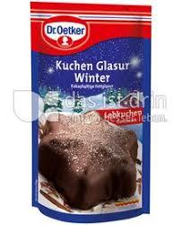 dr oetker kuchen glasur winter kalorien kcal und