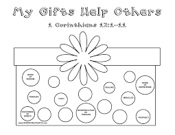Adult Gifts Of The Sunday School Lesson Corinthians Spirit Coloring Sheetholy Page