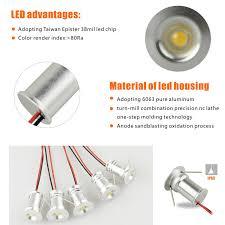 1w dc12v ip65 15mm bridgelux mini led bulb downlight with triac