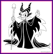 Shocking Special Disney Maleficent Coloring Pages Daisy Duck As Halloween For Villains Evil Queen Ideas And Inspiration