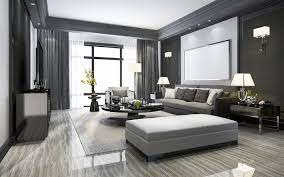 104 Interior Design Modern Style Download Wallpapers Living Room Stylish Gray Black And White Living Room Polished Black Round Table For Desktop Free Pictures For Desktop Free
