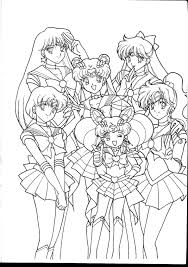 Coloring Pages For Sailor Moon The Pretty Soldier