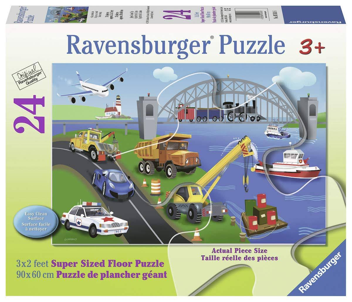 Ravensburger Childrens A Day On The Job Floor Puzzles - 24pcs