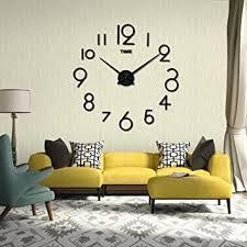 wanduhr digitale funk wanduhr stumme bewegung wohnzimmer diy 3d home dekoration spiegel große kunst design luckygirls schwarz