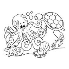 Ocean Underwater Creatures Ruins Coloring Pages
