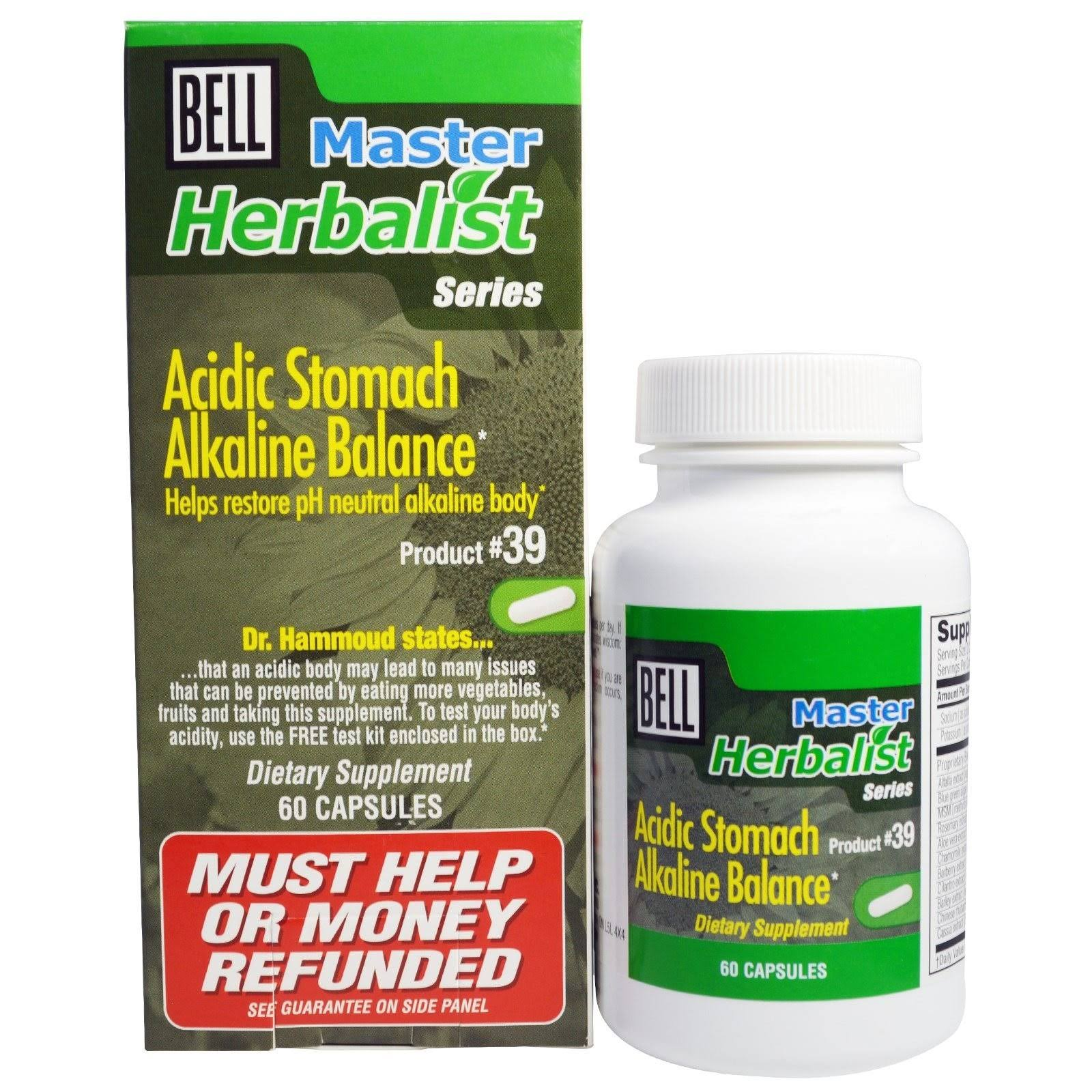 Bell Acidic Stomach Alkaline Balance Capsules - x60