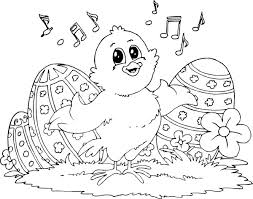 Easter Coloring Pages Little Kids Instruments