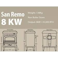 San Remo 8kW Multifuel Stove