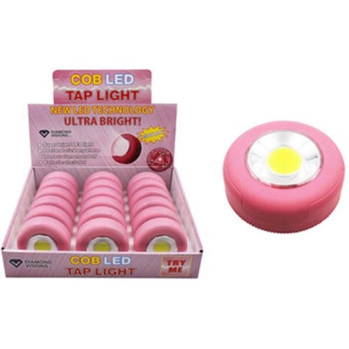 DDI 1980922 COB LED Tap Light, Pink, as Shown