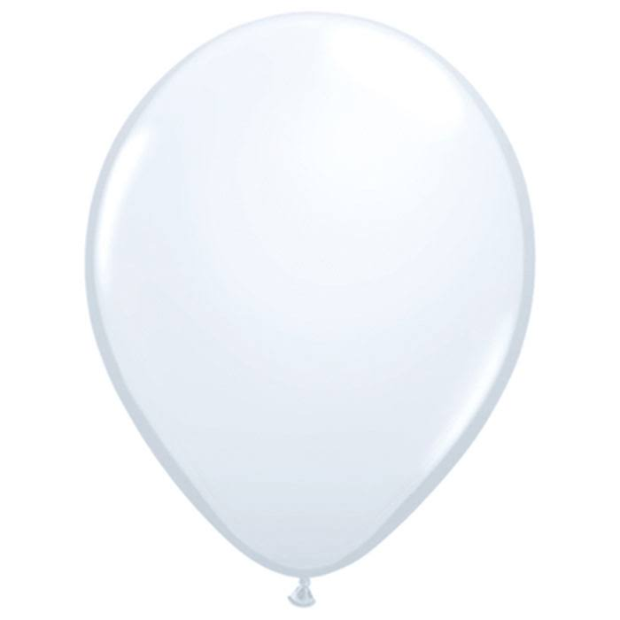 Qualatex 6231 11 in. White Latex Balloon - 25 Count