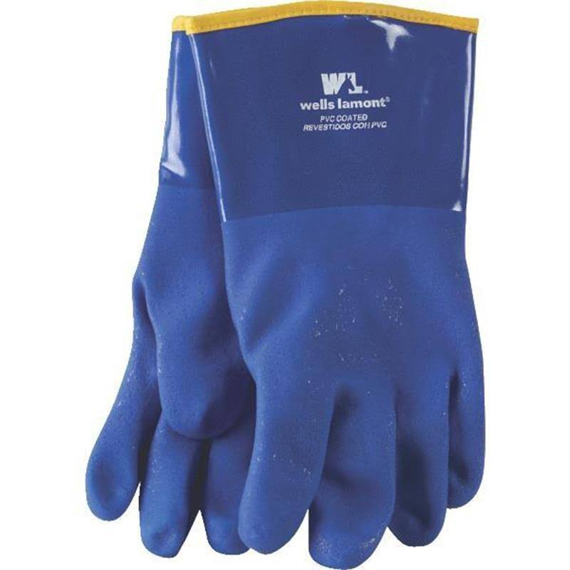 Wells Lamont Heavy Duty PVC Coated Work Gloves - Blue
