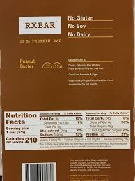 RX Bar Ingredients Peanut Butter