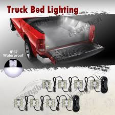 8PC White LED Truck Bed/Rear Work Box Lighting Kit Trunk Light For ... 8pc White Led Truck Bedrear Work Box Lighting Kit Trunk Light For Marker Clearance Lights Trucklite 2pcs 6000k P13w 33smd Bulbs For Auto Car Fog Lamp Arb Style Blue Rocker Switch Many Sayings Hid Pros Automotive Bulb Connectors Sockets Wiring Harnses 15 Series Incandescent 1 Rectangular Clear Utility 50 Smart 7 Solid Pin Grey Plastic Surface Mount Nose Universal Teardrop Smoke Cab Roof Super 44 Red Round 6 Diode Stopturntail Black Grommet
