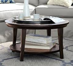 Pottery Barn Display Coffee Table Metropolitan Round Glass